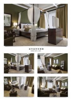 新中式风格家装卧室设计效果图