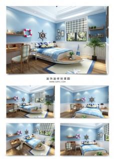 现代简约风格家装儿童房设计效果图