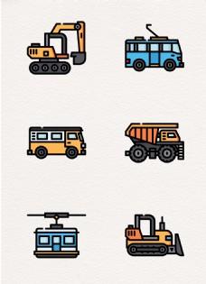 卡通创意交通和运输工具设计