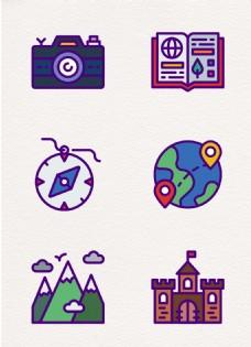 mbe卡通度假旅行元素设计