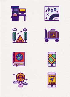 mbe卡通可爱旅行元素设计