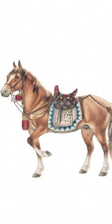 马儿抠图素材装饰画 tif分成