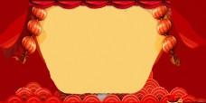 中国风红色喜庆新年背景
