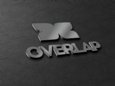 金属感3d立体logo样机模板