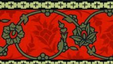 传统花纹底纹