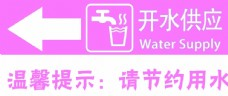 茶水间指示牌