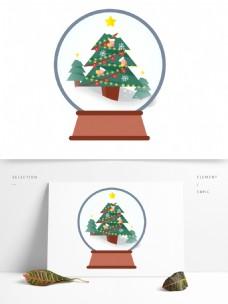 卡通圣诞节水晶球设计