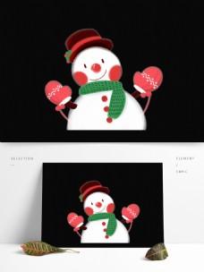 卡通圣诞雪人设计元素