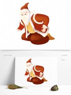卡通手绘过圣诞节的圣诞老人