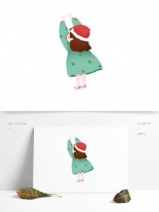 卡通可爱过圣诞节的儿童