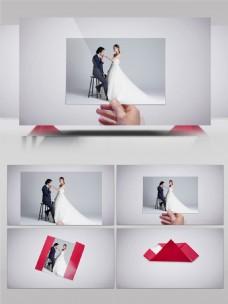 爱心折纸信件开婚礼情人节表白AE模板