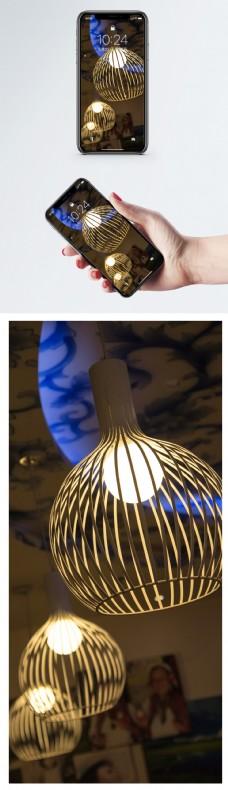 艺术吊灯手机壁纸