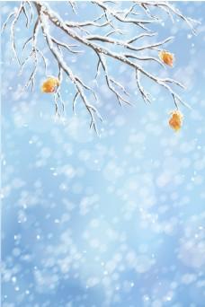 大雪节气雪景背景素材