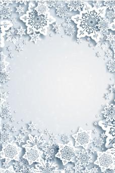 冬季节气雪景背景设计