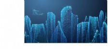 城市背景 光效剪影
