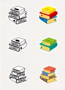 卡通创意书本元素设计