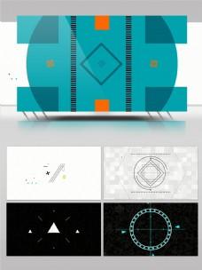 多款数字科技感图形标志动画AE模板