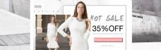 女装白色灰色效果海报速卖通天猫淘宝专用