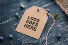 服饰吊牌logo展示样机模板