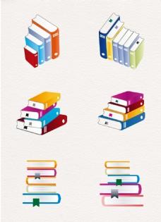 彩绘书本元素创意设计