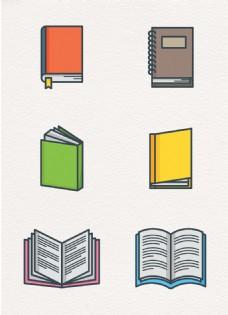 彩绘6组书籍设计元素