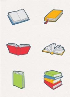彩绘6组书本元素设计