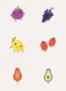 小清新可爱水果表情设计