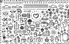 可爱日常用品儿童涂鸦轮廓画