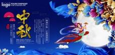 中秋佳节团圆赏月展板