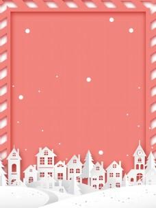 红白色新年元旦圣诞背景素材