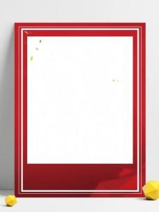 简约大气红白背景素材