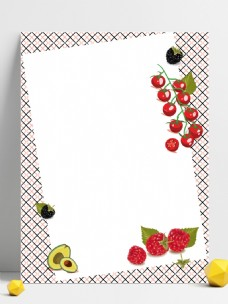 桌面水果背景矢量图