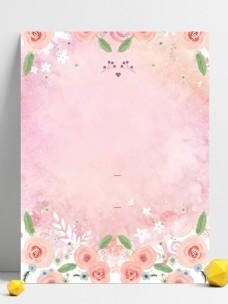 美丽粉色玫瑰花广告背景