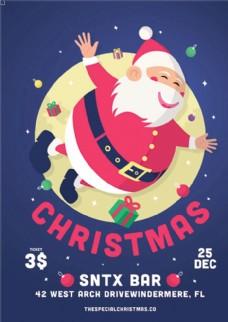 圣诞节卡通宣传促销海报
