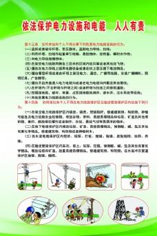 保护电力设施宣传展板