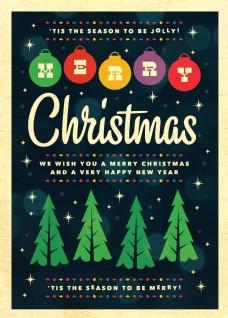 圣诞节派对海报psd