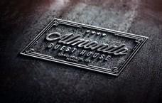 高质量凸起的logo标志样机