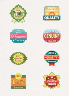 彩色时尚质量标签图片设计