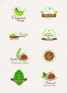 彩色有机食品简约标签图片设计