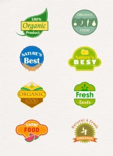 彩色有机食品标签图片