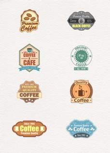 复古风格咖啡标签图片设计