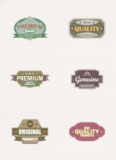 6组矢量复古品质标签设计