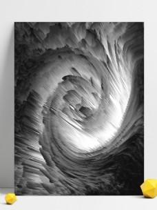 3d黑白酷炫漩涡背景