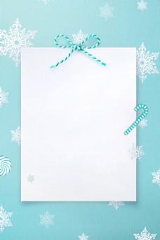 清新雪花圣诞贺卡背景素材