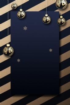 高档蓝色圣诞节主题贺卡背景素材