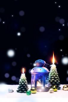 唯美圣诞节平安夜背景素材