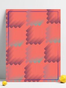 珊瑚橘创意几何形状扁平风格H5背景