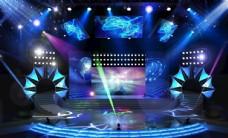 现代风格炫彩舞台设计效果图
