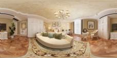 欧式风格卧室全景模型