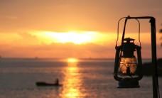 夕阳下的大海风景